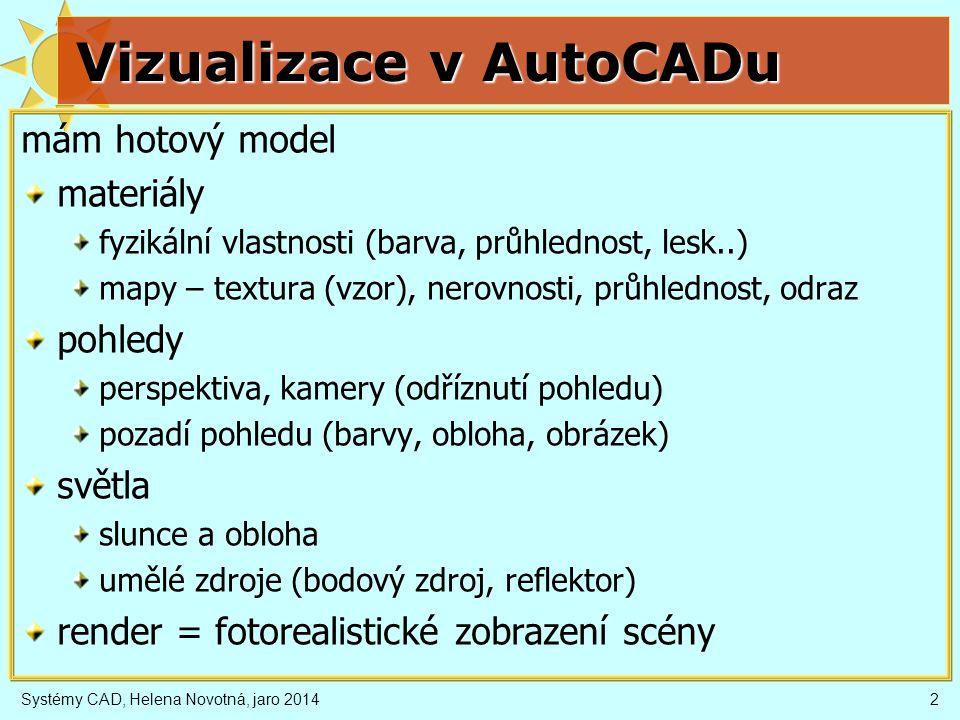 Vizualizace v AutoCADu