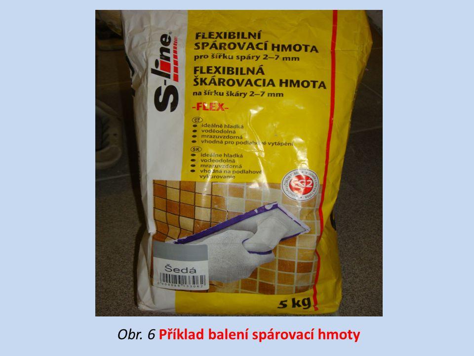 Obr. 6 Příklad balení spárovací hmoty