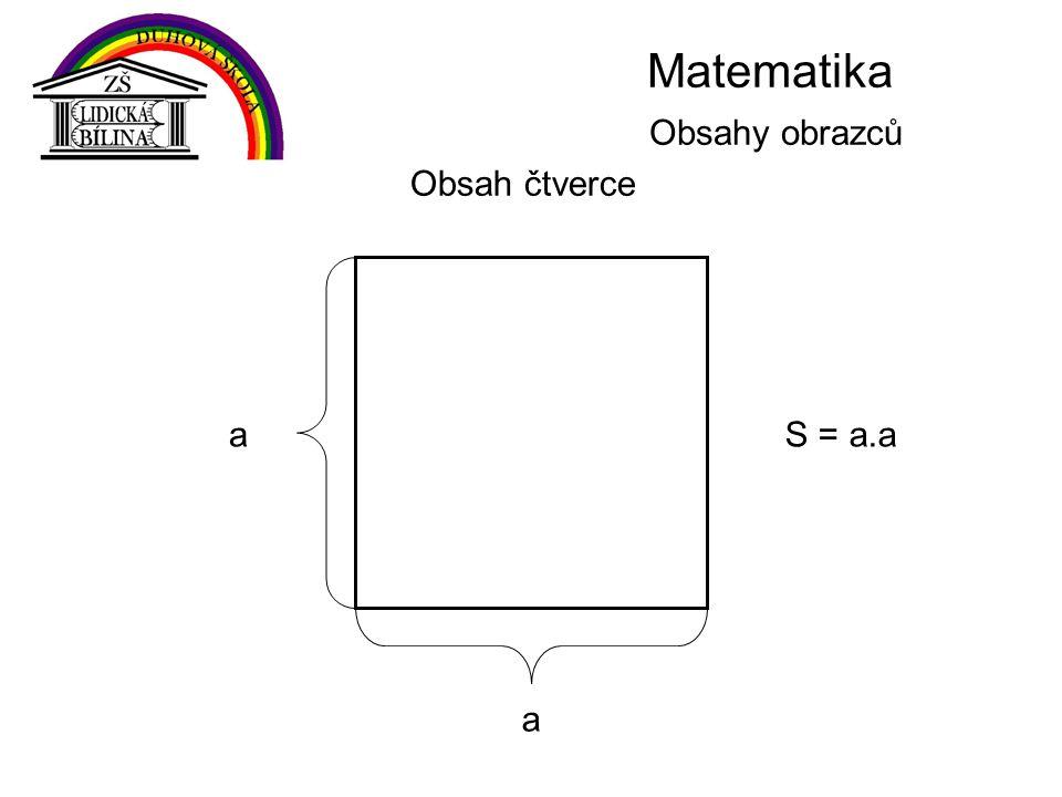 Matematika Obsahy obrazců