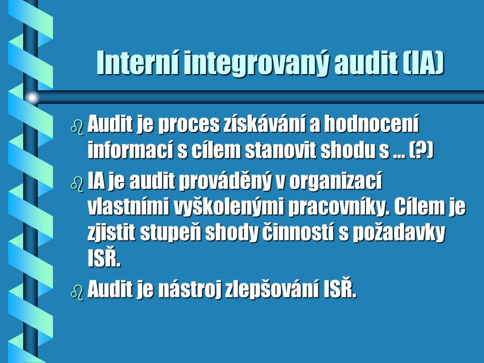 Interní integrovaný audit (IA)
