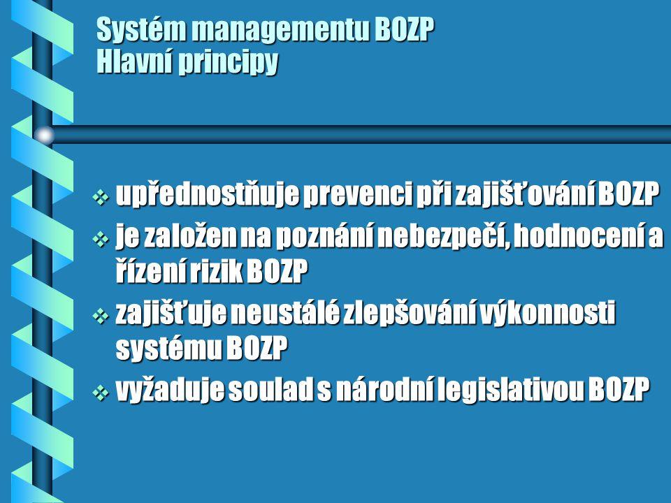 Systém managementu BOZP Hlavní principy