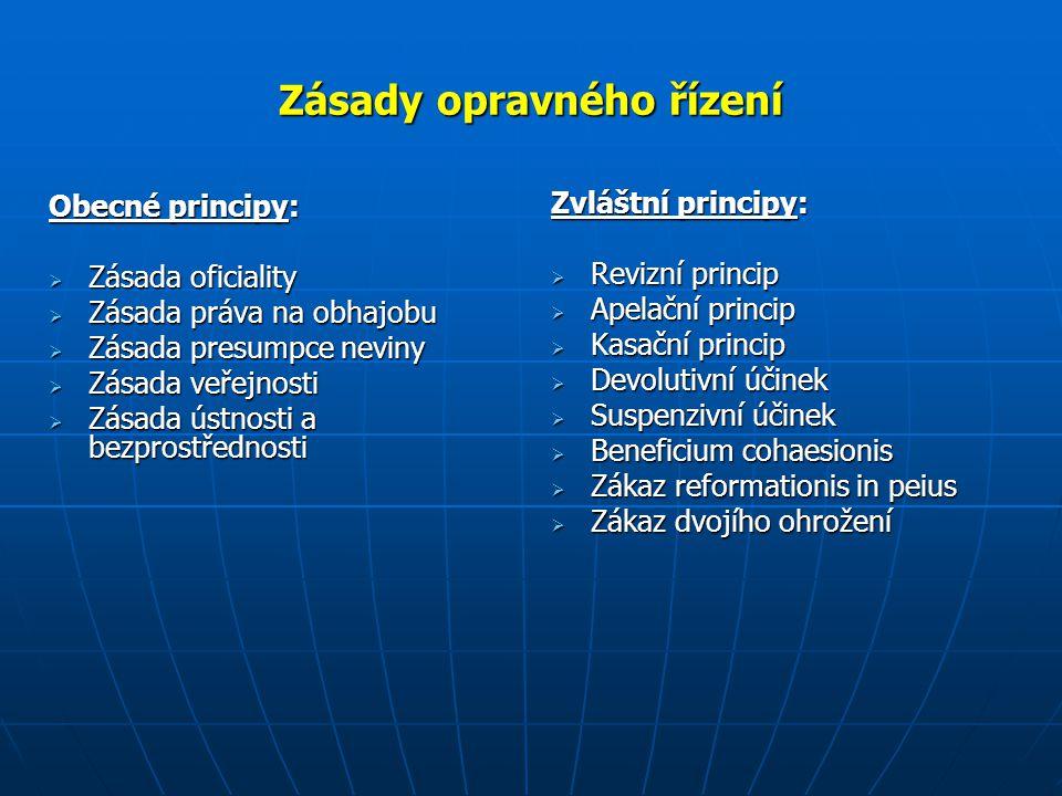 Zásady opravného řízení