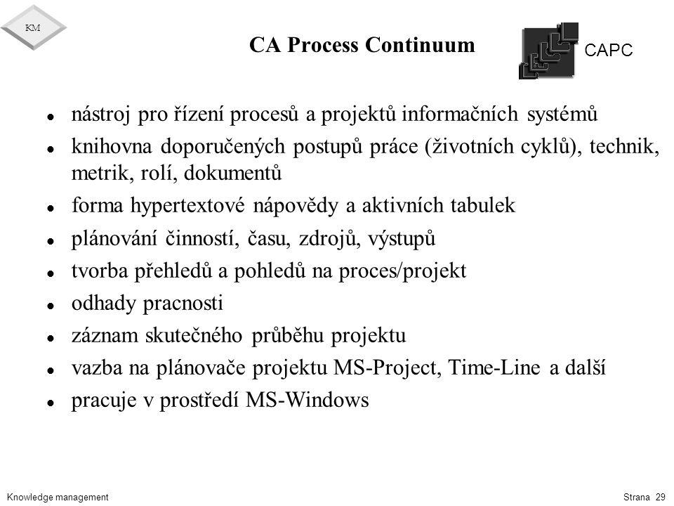 nástroj pro řízení procesů a projektů informačních systémů