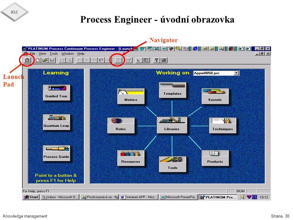Process Engineer - úvodní obrazovka