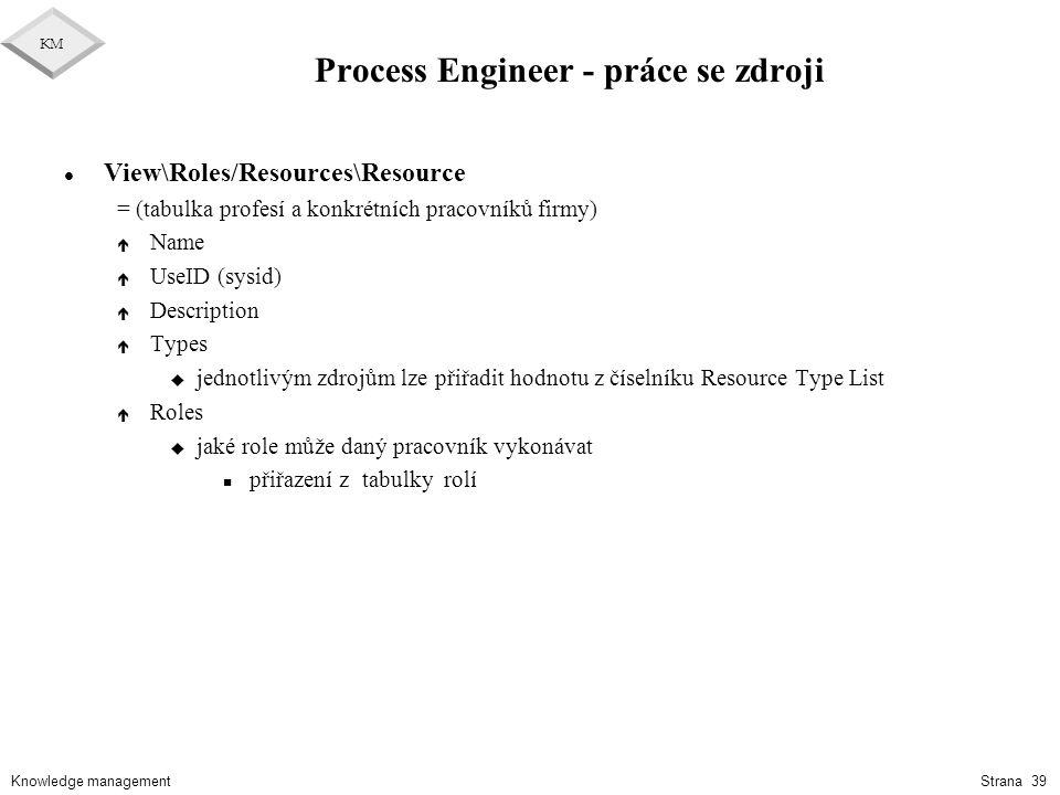 Process Engineer - práce se zdroji
