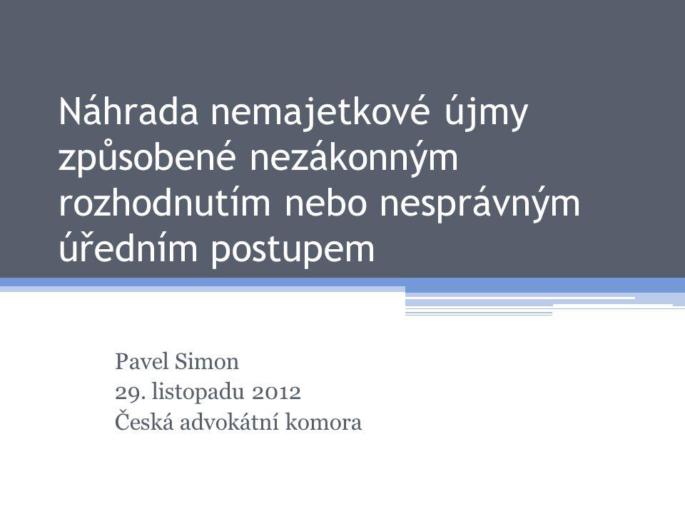 Pavel Simon 29. listopadu 2012 Česká advokátní komora
