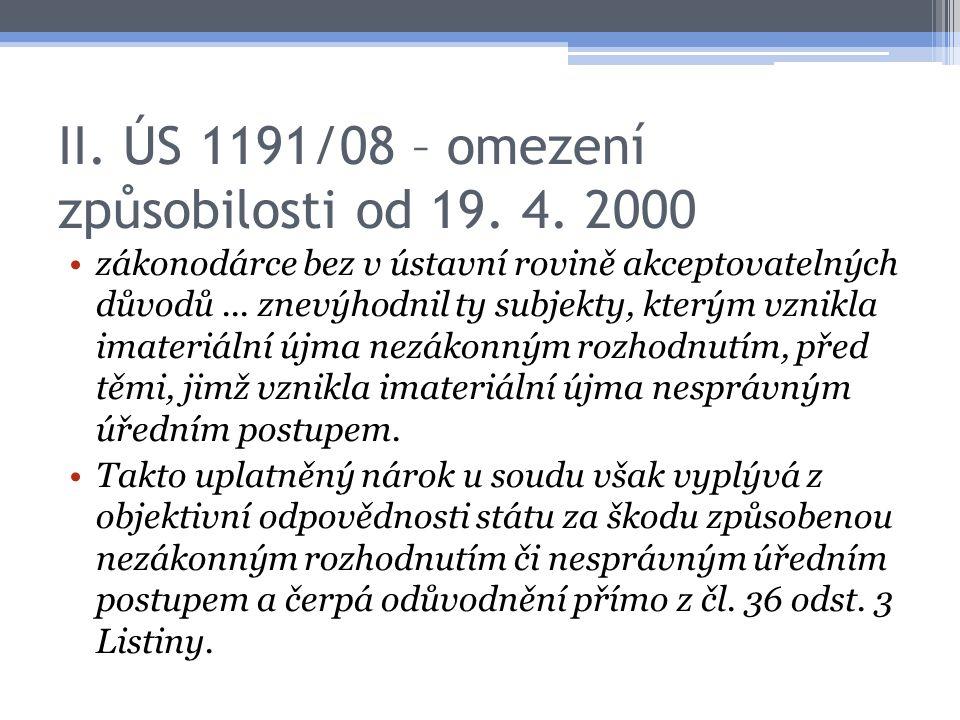 II. ÚS 1191/08 – omezení způsobilosti od 19. 4. 2000