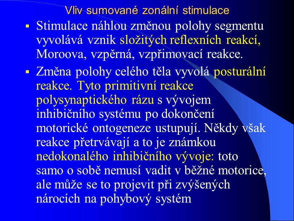 Vliv sumované zonální stimulace
