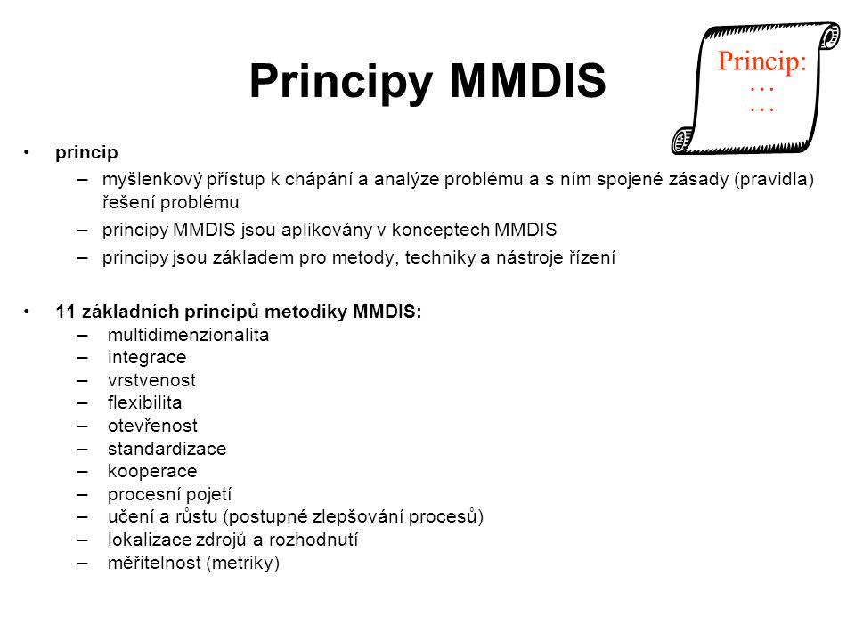 Principy MMDIS Princip: … princip