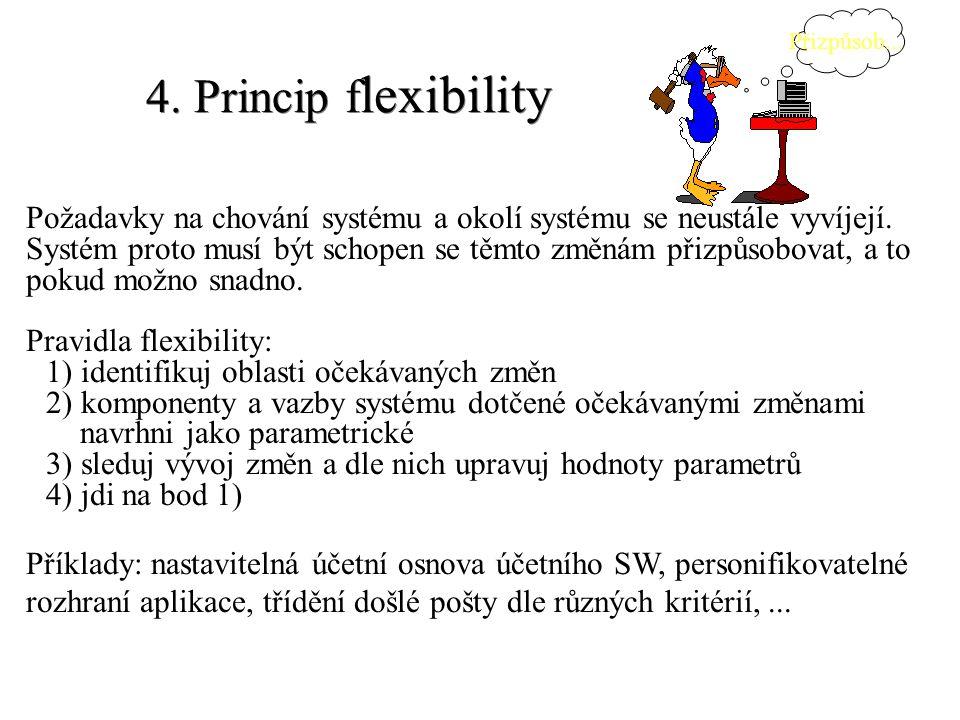 Přizpůsob... 4. Princip flexibility.