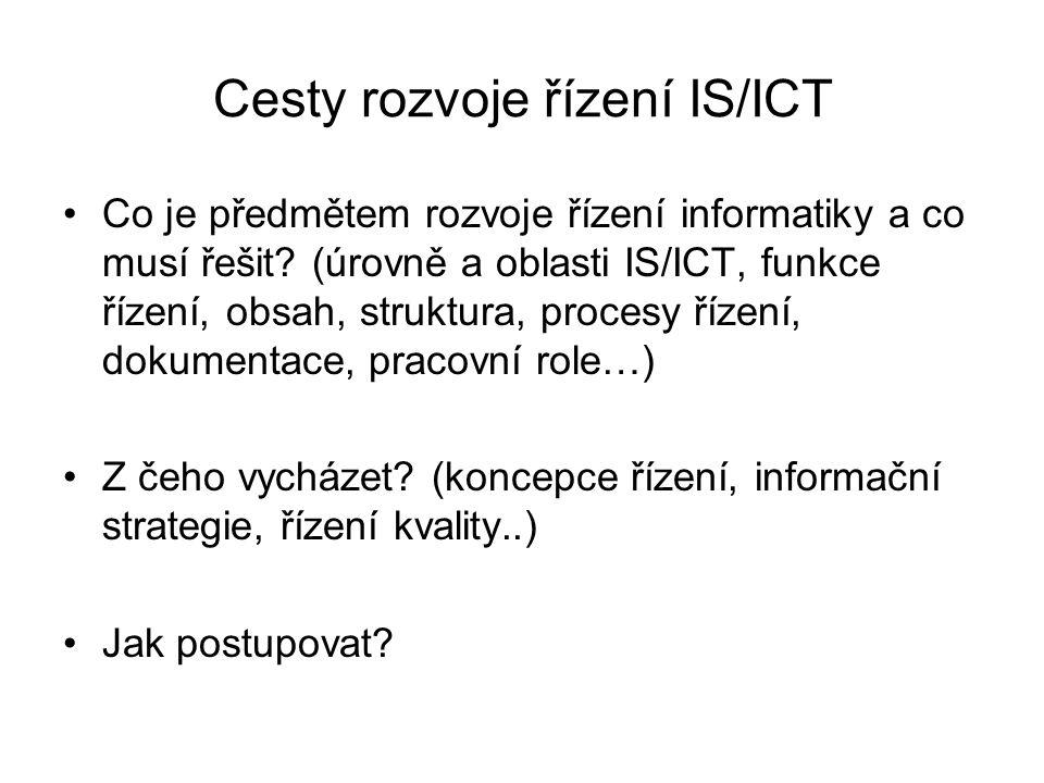 Cesty rozvoje řízení IS/ICT