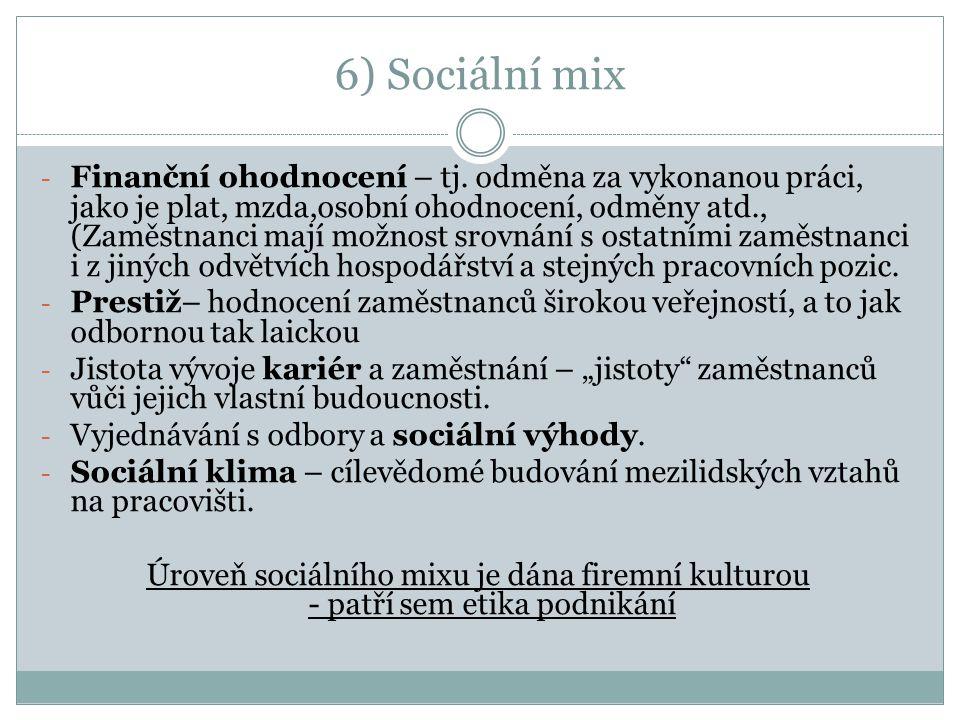 6) Sociální mix