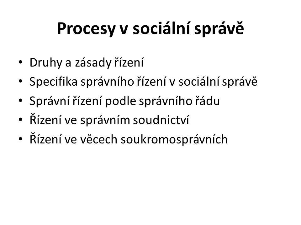 Procesy v sociální správě