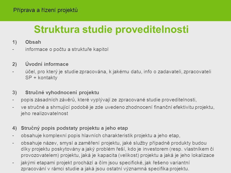 Struktura studie proveditelnosti