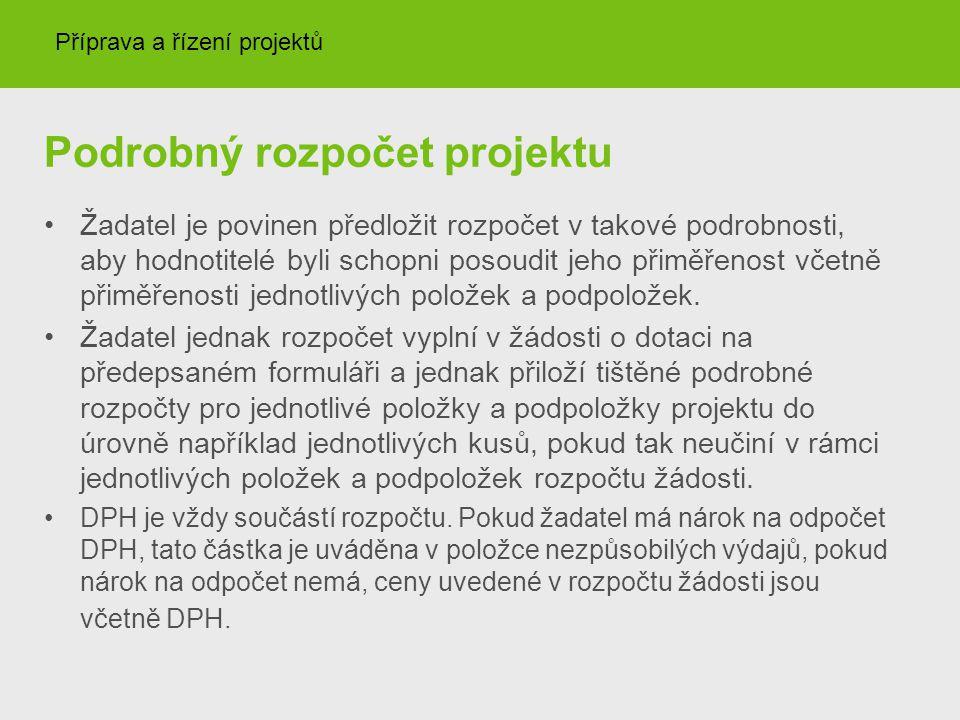 Podrobný rozpočet projektu