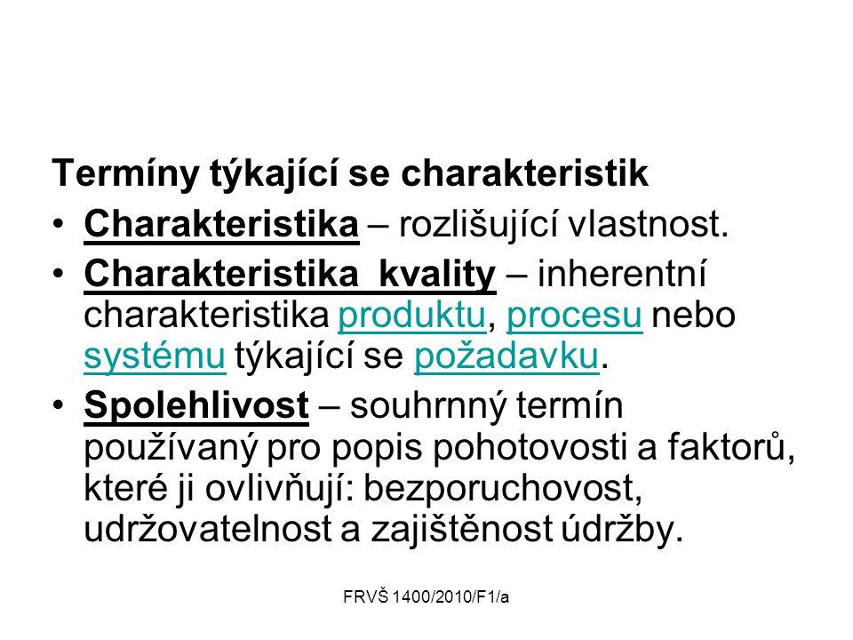 Termíny týkající se charakteristik