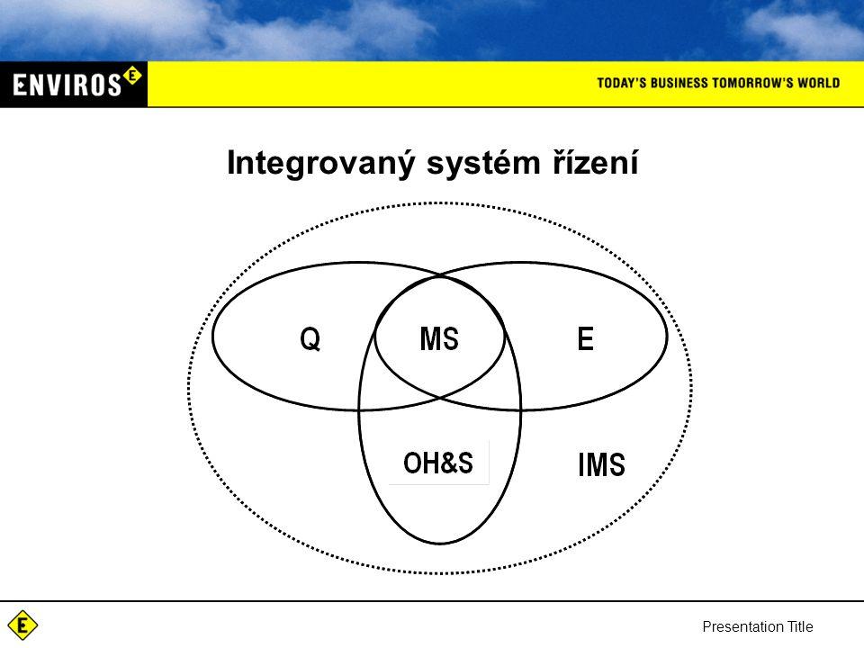 Integrovaný systém řízení