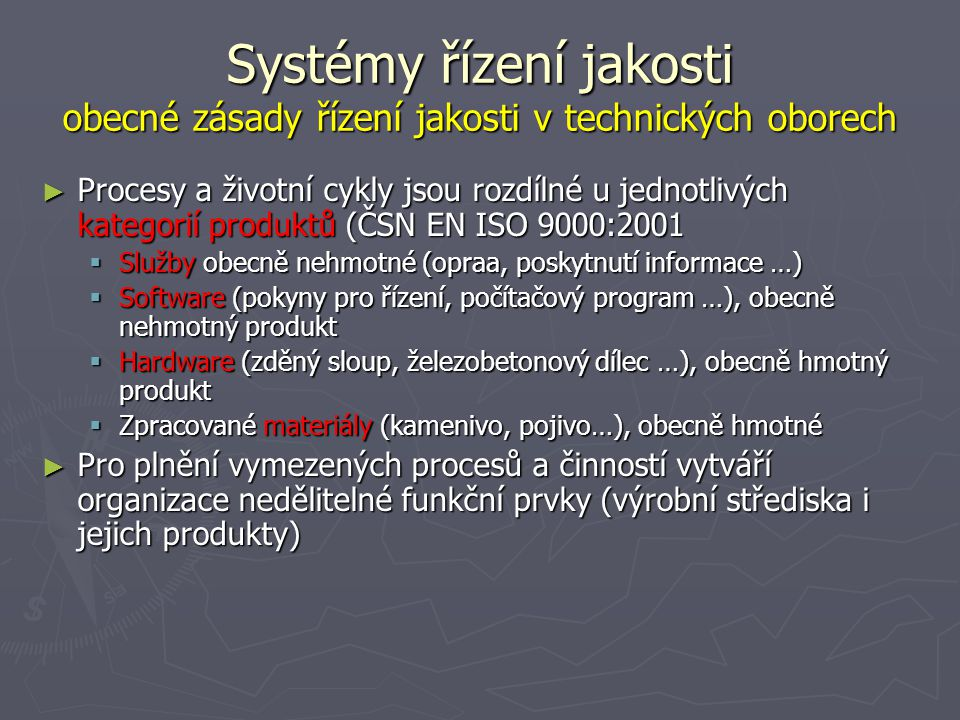 Systémy řízení jakosti obecné zásady řízení jakosti v technických oborech