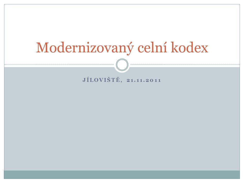 Modernizovaný celní kodex