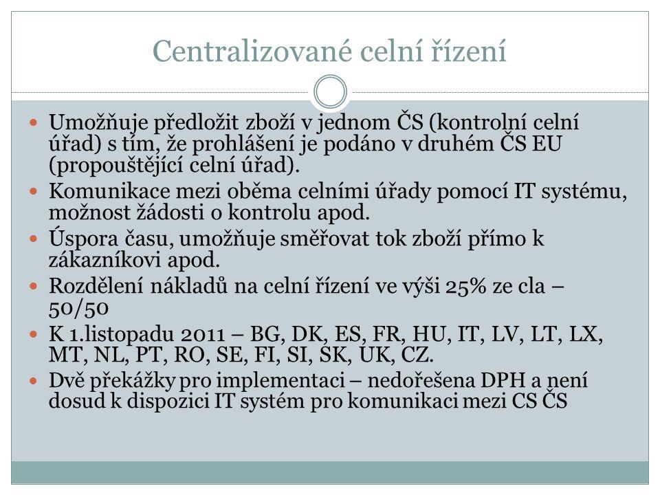 Centralizované celní řízení