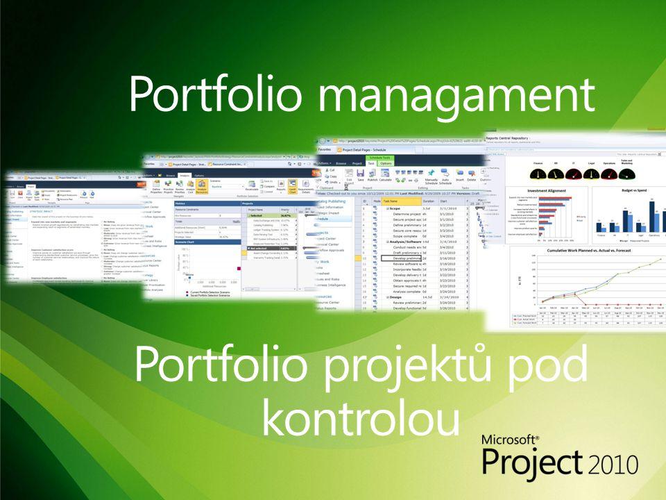 Portfolio managament Portfolio projektů pod kontrolou
