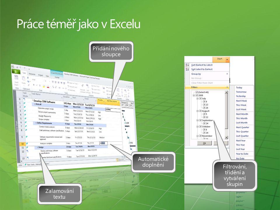 Práce téměř jako v Excelu