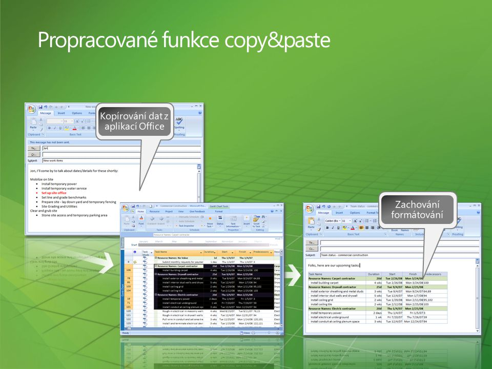 Propracované funkce copy&paste