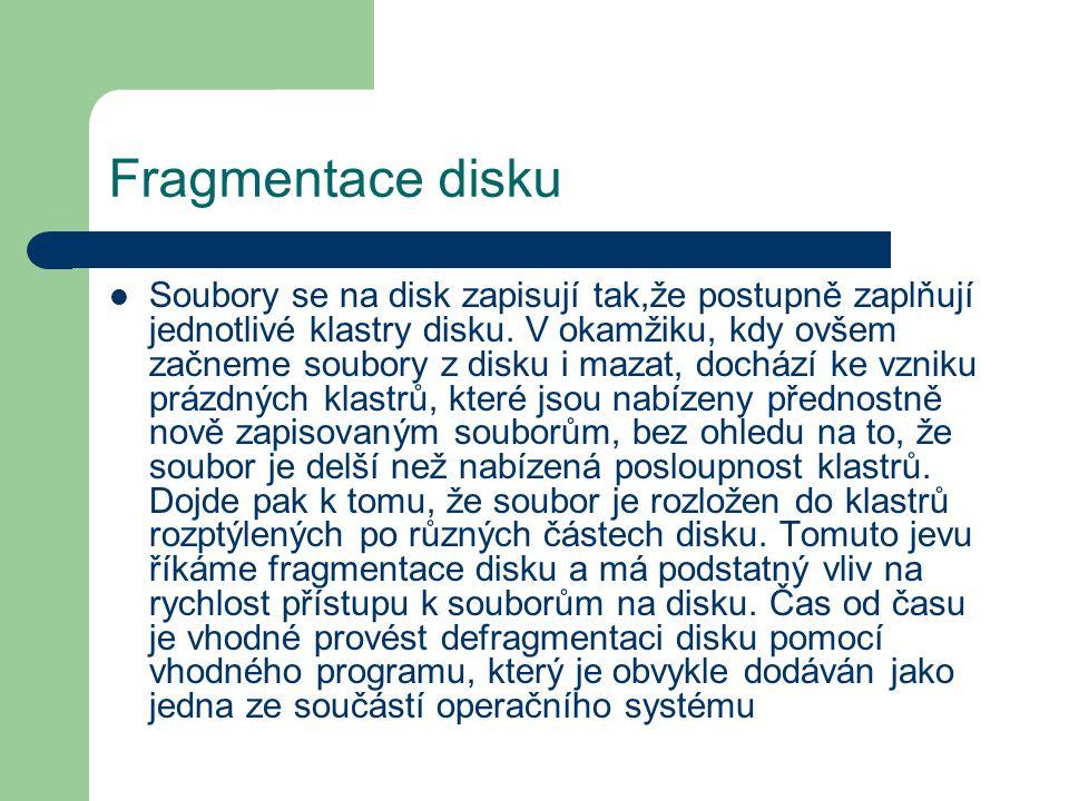 Fragmentace disku