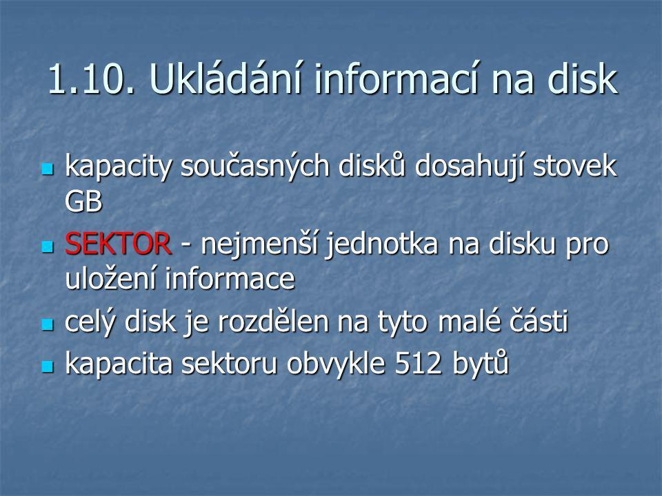1.10. Ukládání informací na disk