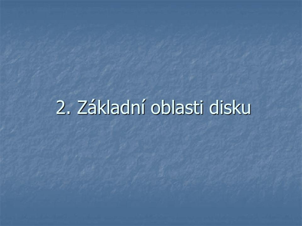 2. Základní oblasti disku