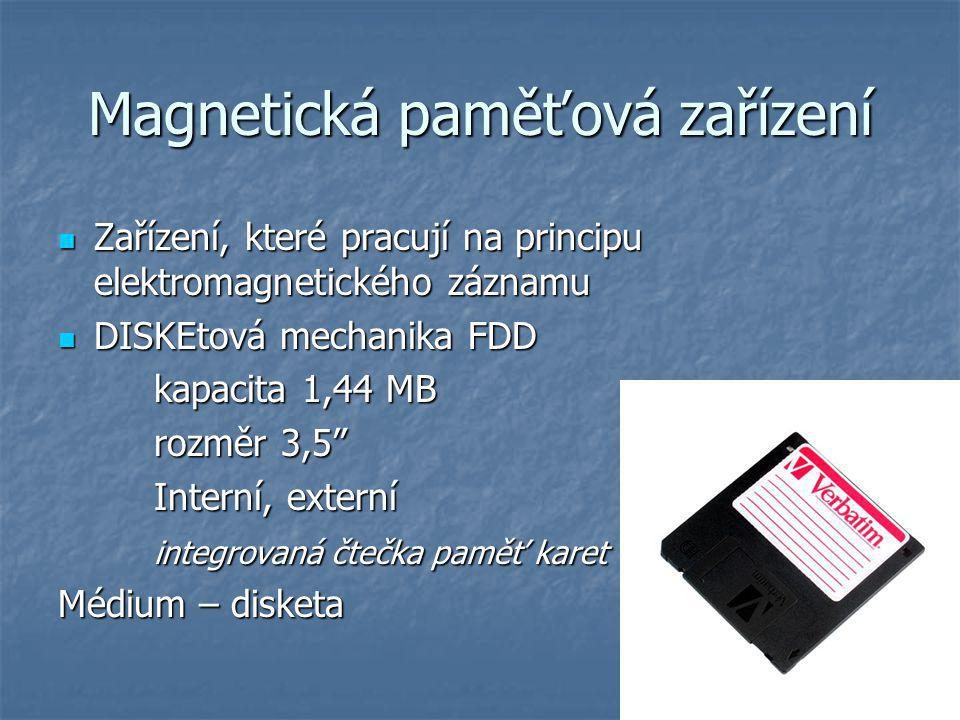 Magnetická paměťová zařízení