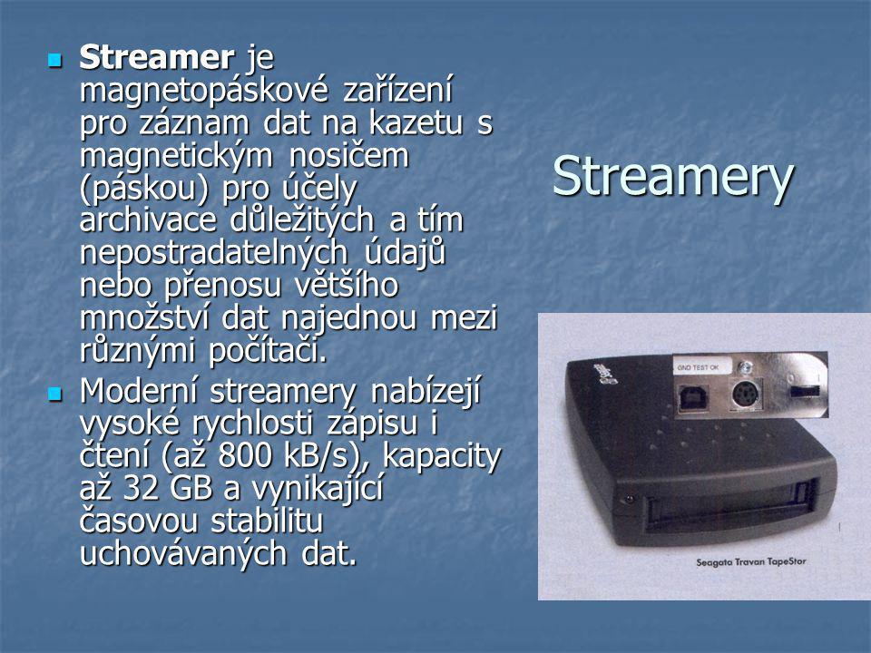 Streamer je magnetopáskové zařízení pro záznam dat na kazetu s magnetickým nosičem (páskou) pro účely archivace důležitých a tím nepostradatelných údajů nebo přenosu většího množství dat najednou mezi různými počítači.