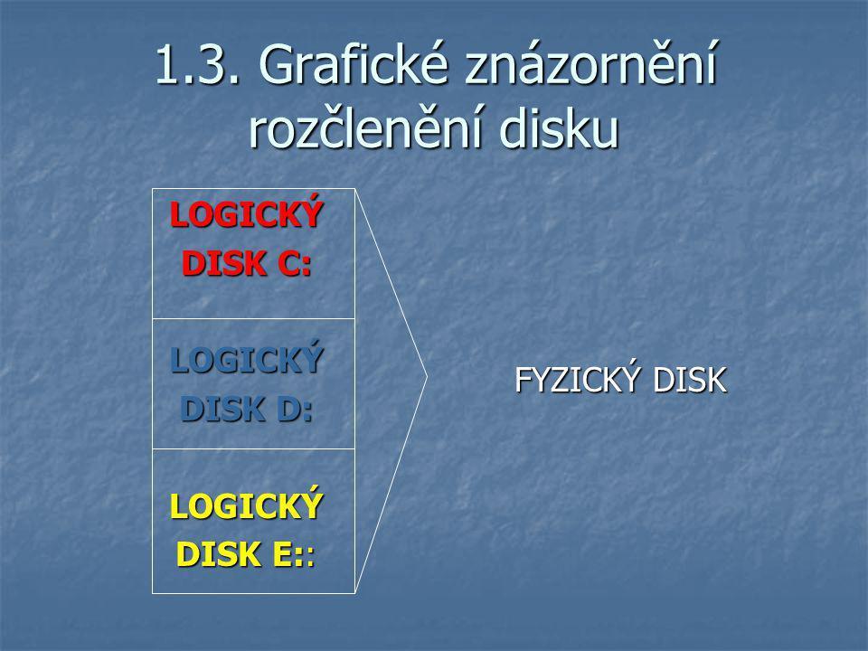 1.3. Grafické znázornění rozčlenění disku