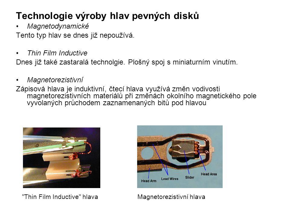 Technologie výroby hlav pevných disků