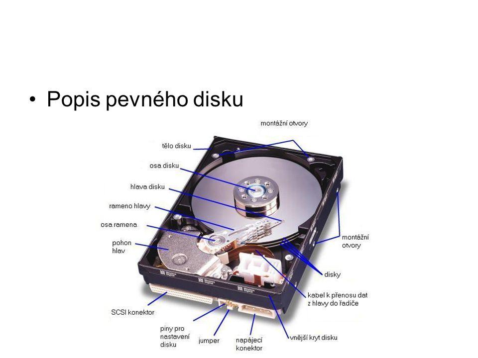 Popis pevného disku