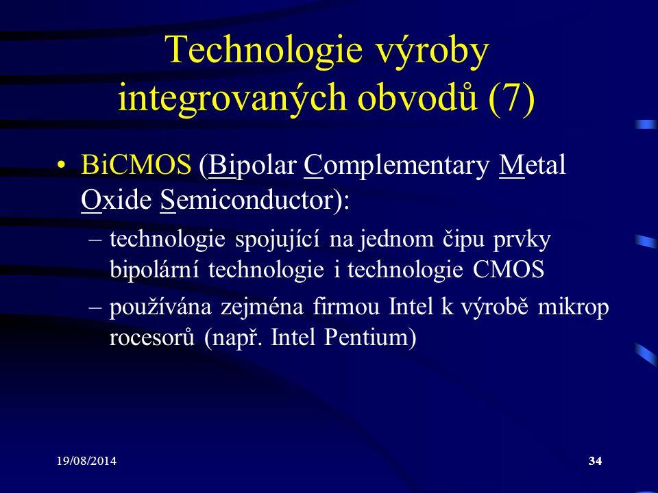 Technologie výroby integrovaných obvodů (7)