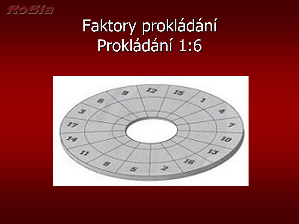 Faktory prokládání Prokládání 1:6