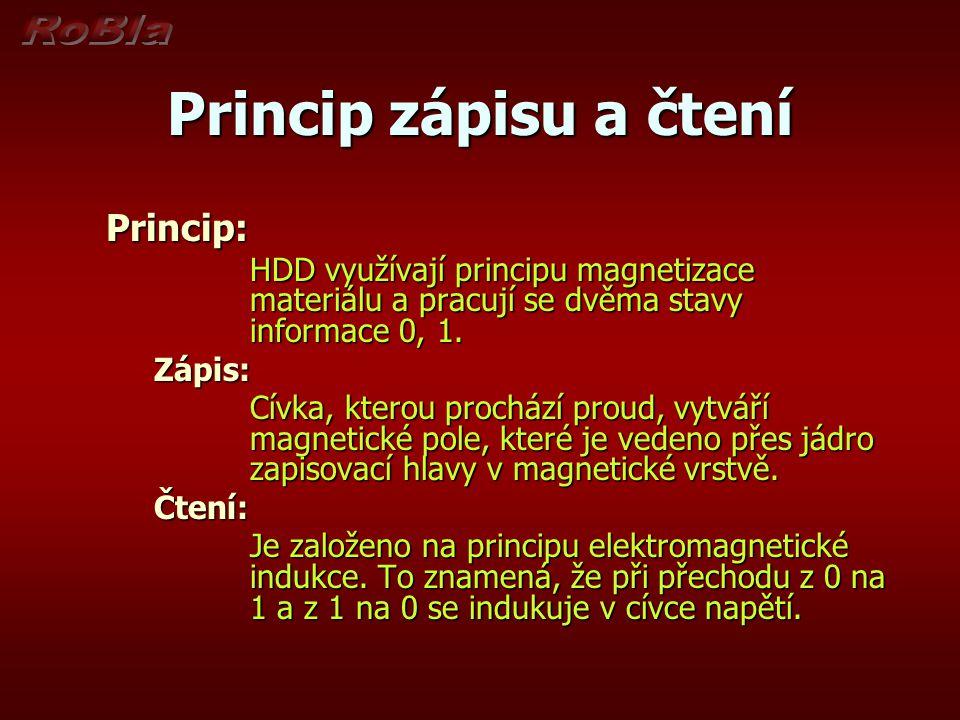 Princip zápisu a čtení Princip: Zápis:
