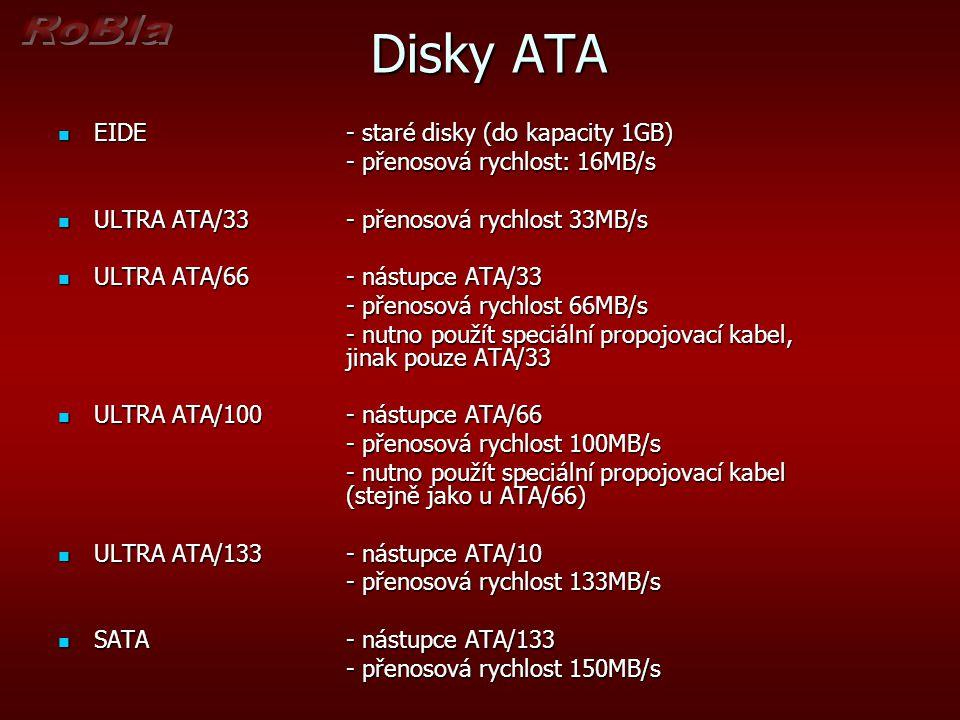 Disky ATA EIDE - staré disky (do kapacity 1GB)