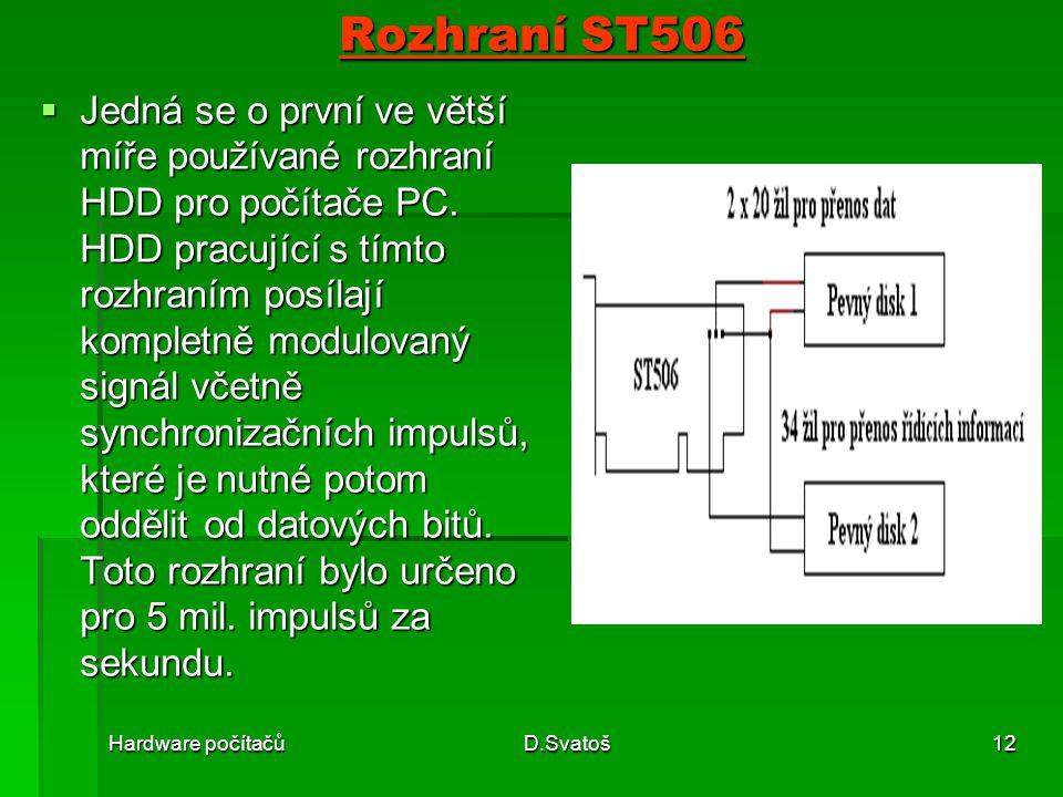 Rozhraní ST506