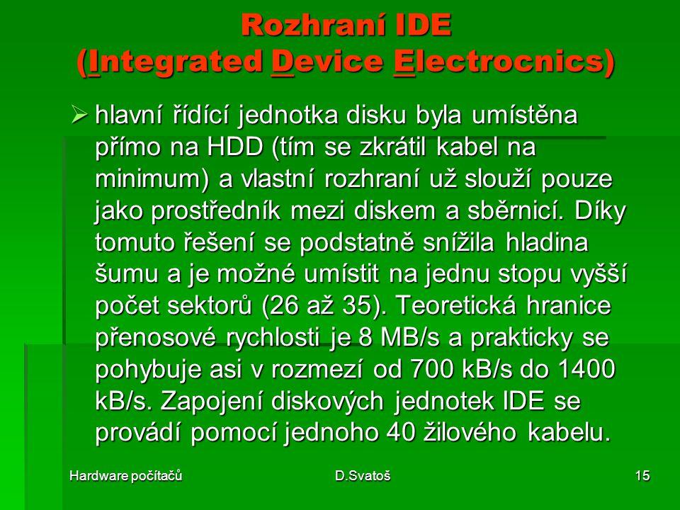 Rozhraní IDE (Integrated Device Electrocnics)