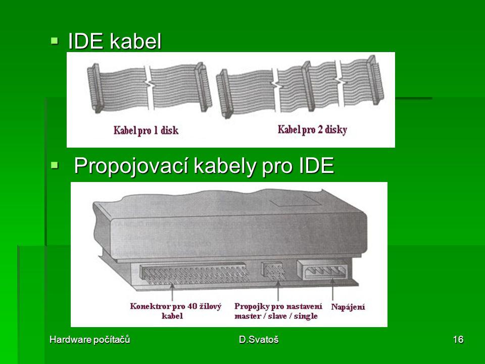Propojovací kabely pro IDE