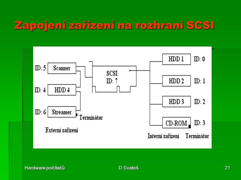 Zapojení zařízení na rozhraní SCSI