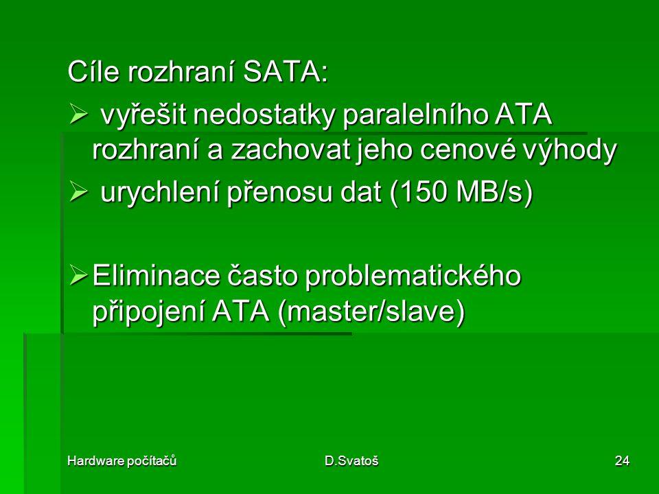 urychlení přenosu dat (150 MB/s)