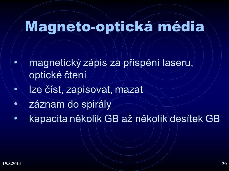 Magneto-optická média