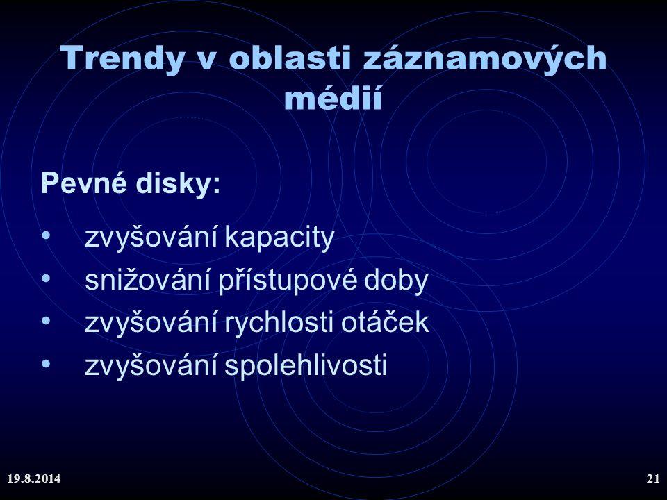 Trendy v oblasti záznamových médií