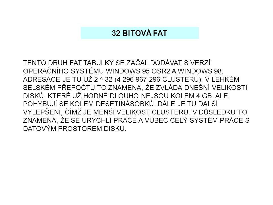 32 BITOVÁ FAT
