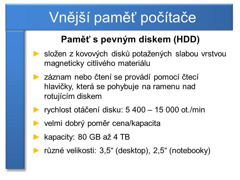 Paměť s pevným diskem (HDD)