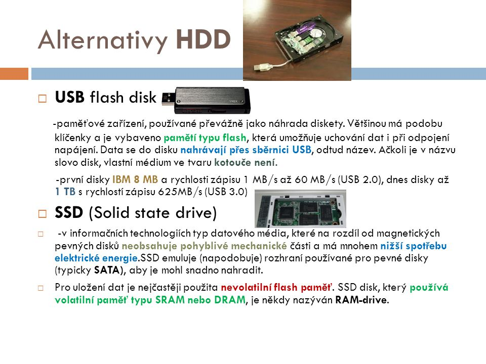 Alternativy HDD USB flash disk