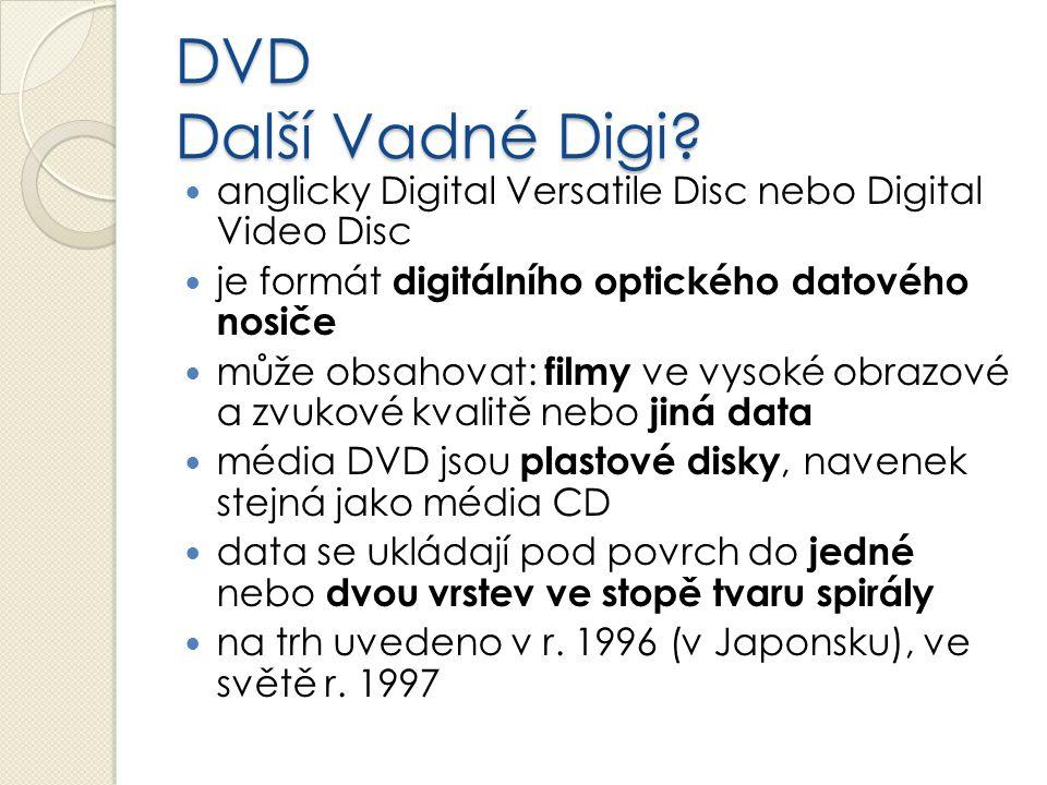 DVD Další Vadné Digi anglicky Digital Versatile Disc nebo Digital Video Disc. je formát digitálního optického datového nosiče.